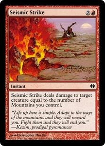 Magic the Gathering Duel Decks: Venser vs. Koth Single Card Red Common #70 Seismic Strike