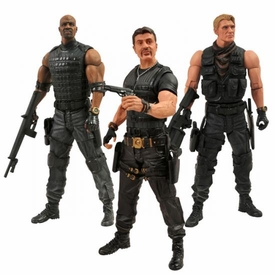 Expendables 2 Diamond Select 7 Inch Set of 3 Action Figures [Barney Ross, Gunnar Jensen & Hale Caesar]