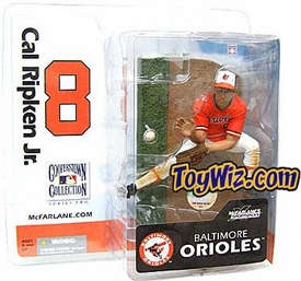 McFarlane Toys MLB Cooperstown Collection Series 2 Action Figure Cal Ripken Jr. (Baltimore Orioles) Orange Jersey Variant