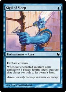 Magic the Gathering Duel Decks: Venser vs. Koth Single Card Blue Common #25 Sigil of Sleep