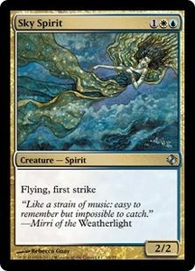 Magic the Gathering Duel Decks: Venser vs. Koth Single Card Gold Uncommon #10 Sky Spirit