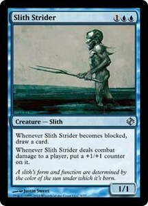 Magic the Gathering Duel Decks: Venser vs. Koth Single Card Blue Uncommon #9 Slith Strider