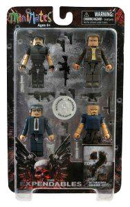 Expendables TWO Minimates Exclusive 4-Pack Box Set James Munroe, Paine, Barney Ross & Trent Mauser