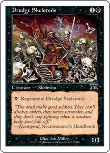 Magic the Gathering Starter 2000 Single Card Common Drudge Skeletons