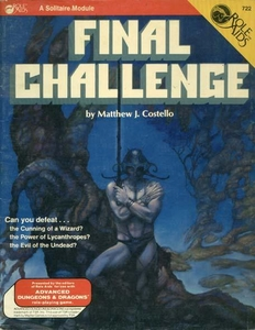 Final Challenge Softcover Roleplaying Book [Used: Condition Good]