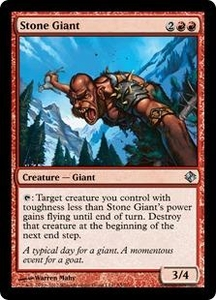 Magic the Gathering Duel Decks: Venser vs. Koth Single Card Red Uncommon #55 Stone Giant