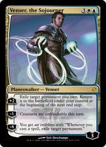 Magic the Gathering Duel Decks: Venser vs. Koth Single Card Gold Mythic Rare #1 Venser, the Sojourner