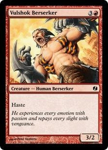 Magic the Gathering Duel Decks: Venser vs. Koth Single Card Red Common #53 Vulshok Berserker