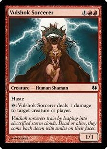 Magic the Gathering Duel Decks: Venser vs. Koth Single Card Red Common #50 Vulshok Sorcerer