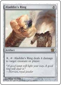 Magic the Gathering Eighth Edition Single Card Rare #291 Aladdin's Ring