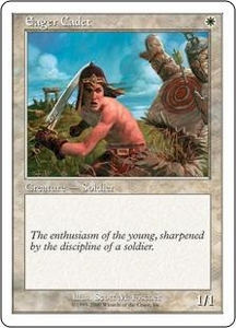 Magic the Gathering Starter 2000 Single Card Common Eager Cadet