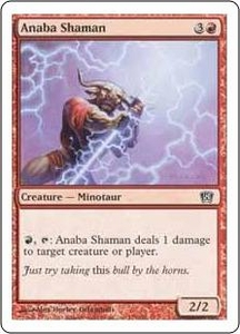 Magic the Gathering Eighth Edition Single Card Common #175 Anaba Shaman