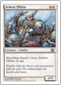 Magic the Gathering Eighth Edition Single Card Uncommon #3 Ardent Militia