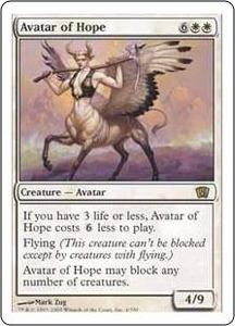 Magic the Gathering Eighth Edition Single Card Rare #4 Avatar of Hope