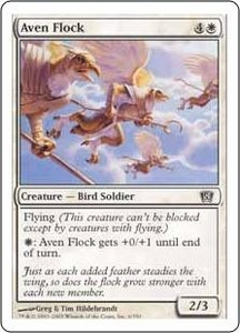 Magic the Gathering Eighth Edition Single Card Common #6 Aven Flock