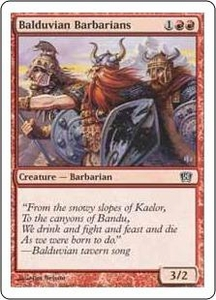 Magic the Gathering Eighth Edition Single Card Common #176 Balduvian Barbarians