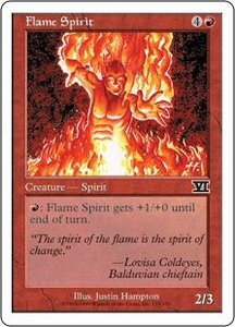 Magic the Gathering Starter 2000 Single Card Common Flame Spirit