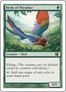 Magic the Gathering Eighth Edition Single Card Rare #233 Birds of Paradise