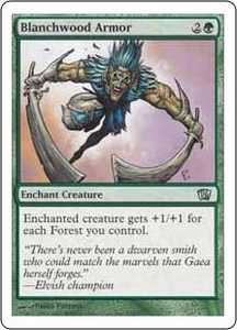 Magic the Gathering Eighth Edition Single Card Uncommon #234 Blanchwood Armor