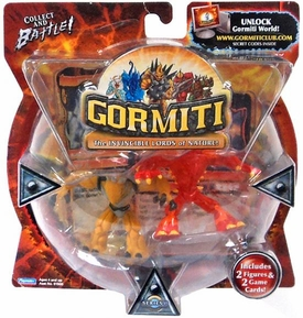 Gormiti Series 1 Mini Figure 2-Pack Blind Fury & Thoughtcatcher
