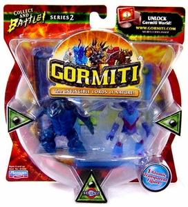 Gormiti Series 2 Mini Figure 2-Pack Turtle the Seer & Darkness the Gory [Random Colors]