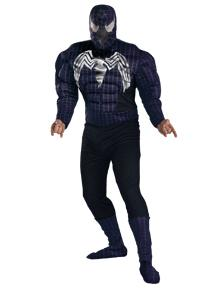 Spider-Man Costume #6607 Venom Quality Muscle Costume (Young Adult 38-40)