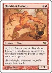 Magic the Gathering Eighth Edition Single Card Rare #179 Bloodshot Cyclops