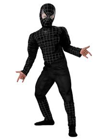 Spider-Man Costume #6617 Black Suited Spider-Man Deluxe Muscle Costume (Teen 14-16)