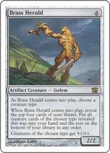Magic the Gathering Eighth Edition Single Card Rare #293 Brass Herald