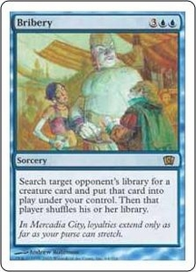 Magic the Gathering Eighth Edition Single Card Rare #64 Bribery Slightly Played