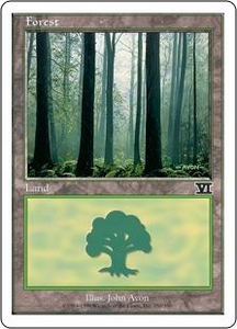 Magic the Gathering Starter 2000 Single Card Land Forest [Random Artwork]