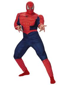Spider-Man Costume #6614 Spider-Man Deluxe Muscle Costume (Young Adult 38-40)
