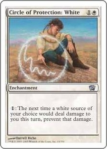 Magic the Gathering Eighth Edition Single Card Uncommon #14 Circle of Protection: White