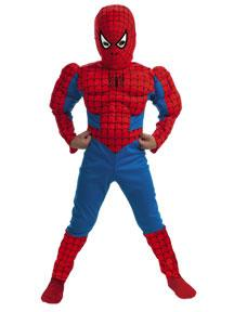 Spider-Man #5766 Muscle Chest Spider-Man Costume (Child Medium Size 7-8)