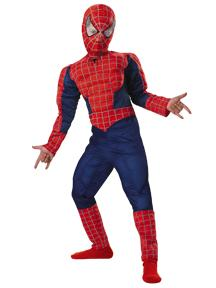 Spider-Man Costume #6615 Spider-Man Deluxe Muscle Costume (Child 10-12)