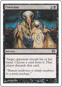 Magic the Gathering Eighth Edition Single Card Common #122 Coercion