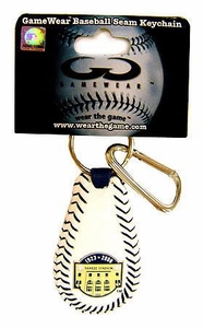 New York Yankees Game Wear Leather Keychain Yankees Stadium