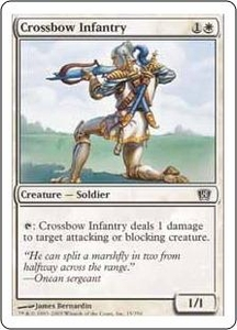 Magic the Gathering Eighth Edition Single Card Common #15 Crossbow Infantry