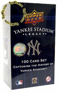 Upper Deck MLB New York Yankees Yankee Stadium Legacy 100 Card Set