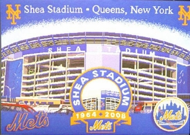 New York Mets Tapestry Woven Throw Shea Stadium Final Year