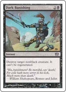 Magic the Gathering Eighth Edition Single Card Common #123 Dark Banishing