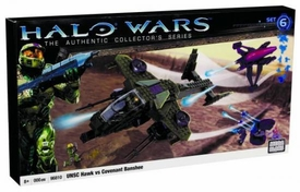 Halo Wars Mega Bloks Set #96810 UNSC Hawk vs. Covenant Banshee [Aerial Ambush]