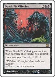 Magic the Gathering Eighth Edition Single Card Rare #124 Death Pit Offering