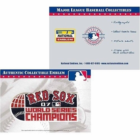 MLB Authentic Collectible Emblem Boston Red Sox World Series Champions Patch