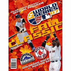 MLB Boston Red Sox Colorado Rockies 2007 World Series Program