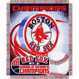 MLB Boston Red Sox Triple Woven Jacquard Throw