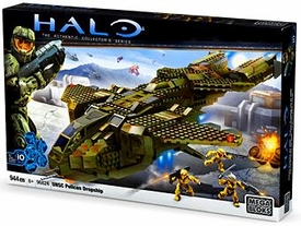 Halo Wars Mega Bloks Set #96824 UNSC Pelican Dropship Damaged Package, Mint Contents!