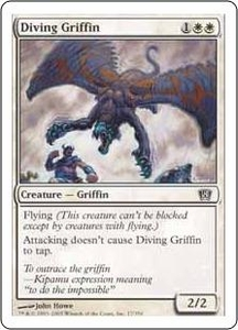 Magic the Gathering Eighth Edition Single Card Common #17 Diving Griffin
