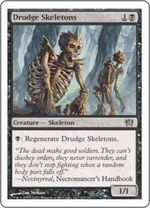 Magic the Gathering Eighth Edition Single Card Common #129 Drudge Skeletons