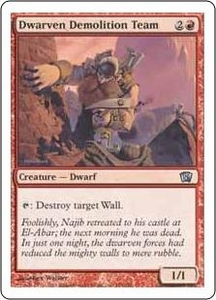 Magic the Gathering Eighth Edition Single Card Uncommon #184 Dwarven Demolition Team